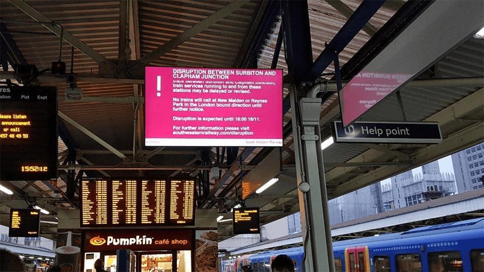 Transportation digital signage