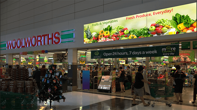 Video Wall for Supermarket